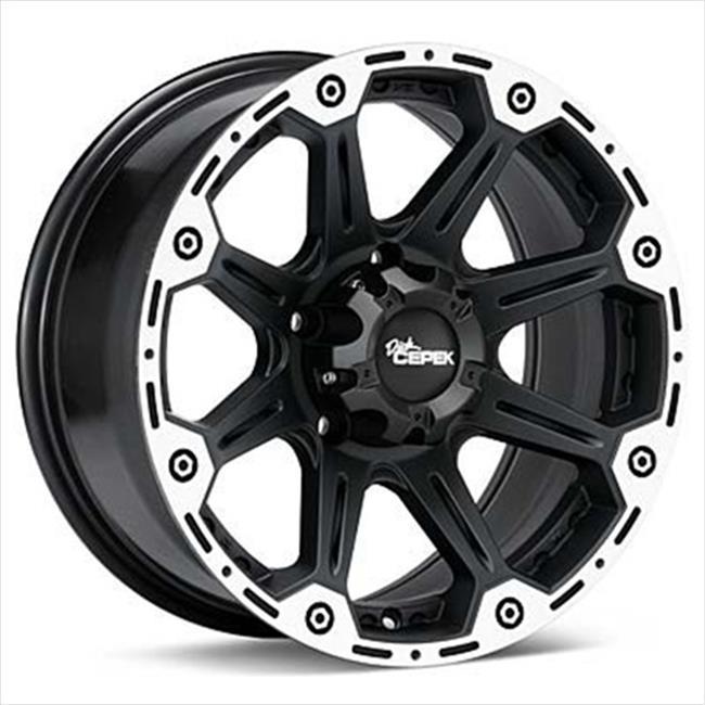 Cepek Wheel 1078482 Torque Black - chrome, 17 x 8. 5, 8 x 6. 5 Bolt Circle