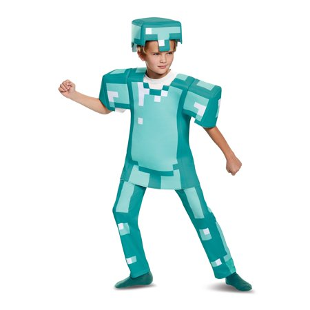 Minecraft Armor Deluxe Child Costume - Minecraft Diamond Armor Halloween Costume