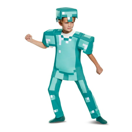 Mine Craft Halloween Costumes (Minecraft Armor Deluxe Child Costume L)