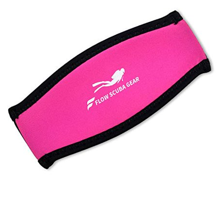 Flow Scuba Gear - Neoprene Cover for Dive and Snorkel Mask Strap (Pink)