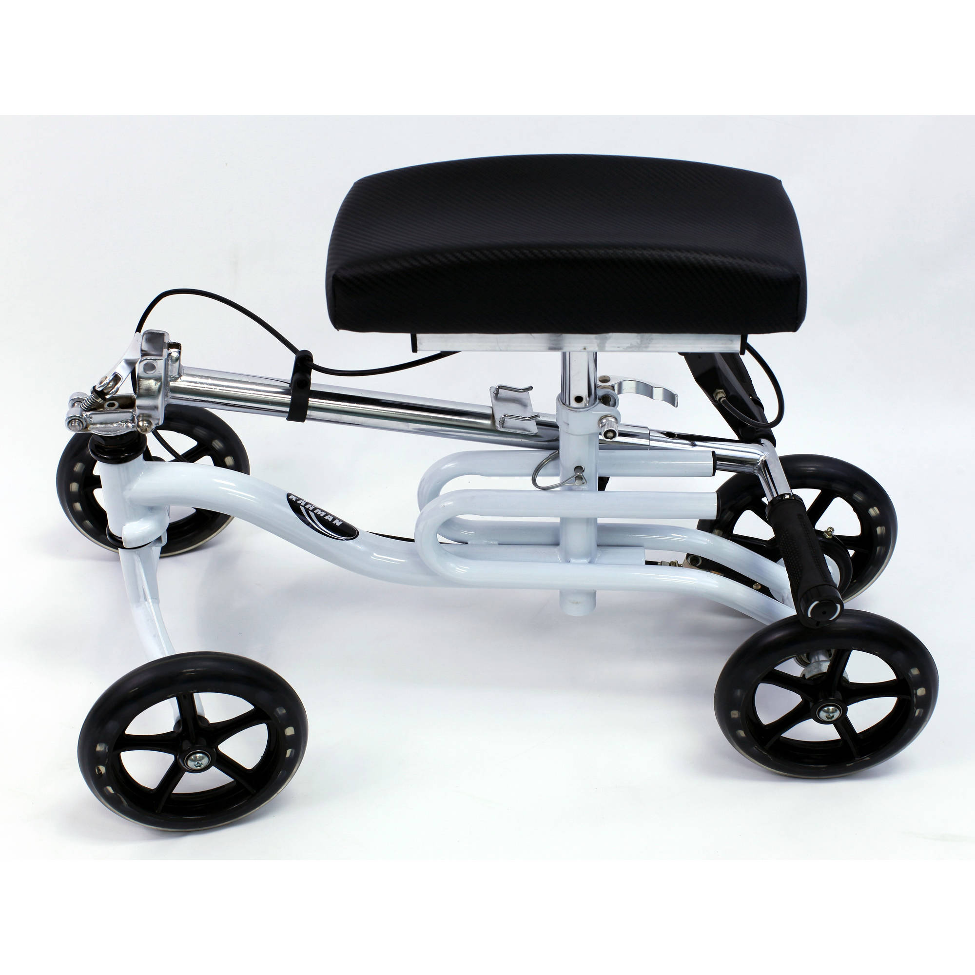 Karman KW-100 Luxury Knee Walker with Basket and Knee Pad, White