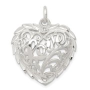 925 Sterling Silver Diamond-Cut Heart Pendant Fine Jewelry Ideal Gifts For Women Gift Set From Heart