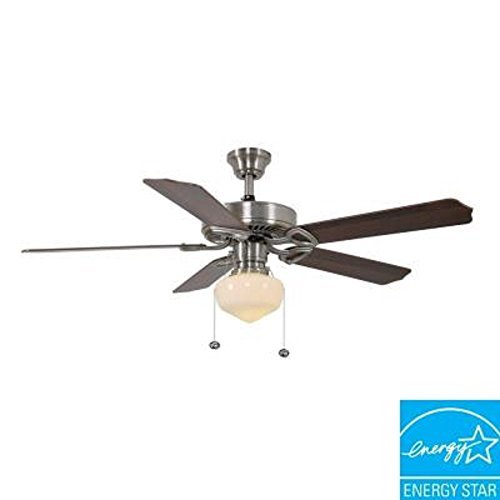 Hampton bay tri mount 52 in brushed nickel energy star ceiling fan