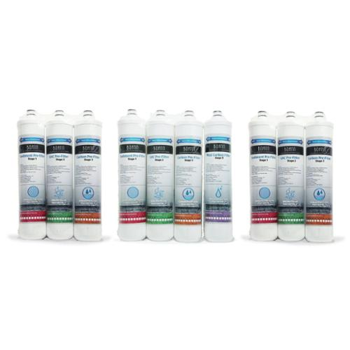 BOANN 18 Month Filter Pack for Reverse Osmosis (RO) Water Filtration System by Overstock