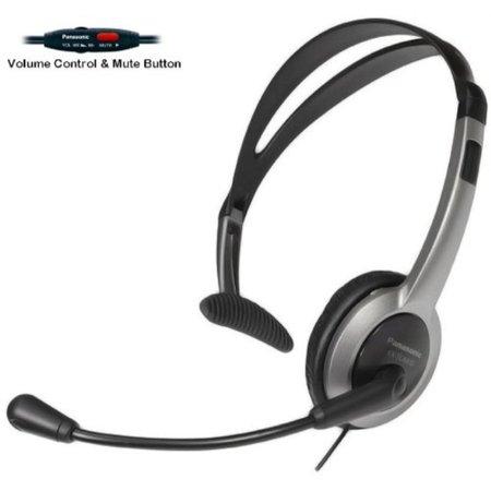 Panasonic Switch (panasonic hands-free headset with foldable comfort fit lightweight headband & flexible optimum voice microphone with volume control & mute switch for the panasonic kx-tga430b - kx-tga450b & kx-tg4500b)