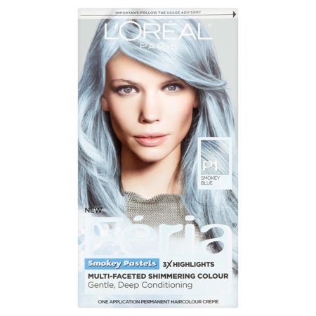 Getting Blue Out Of Hair (L'Oreal Paris F?ria Smokey Pastels P1 Smokey)