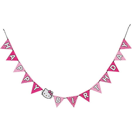 Hello Kitty Birthday Banner, Party Supplies