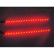 SmallAutoParts 12 inch Led Strips Waterproof, Red Set Of 2