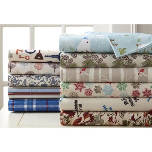Micro Flannel Printed Sheet Sets Full - Trees