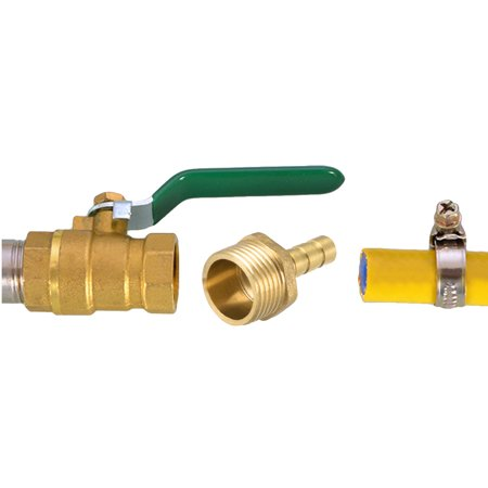 """Brass Barb Hose Fitting Connector Adapter 6mm Barbed x 1/2"""" G Male Pipe 2pcs - image 1 of 4"""