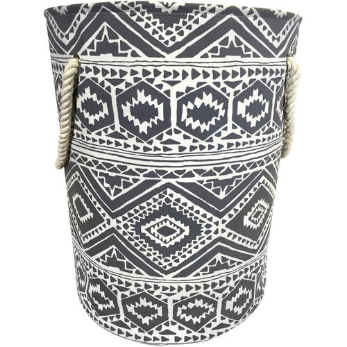 Mainstays Canvas Laundry Hamper with Rope Handles