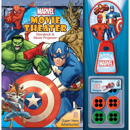 Marvel Movie Theater Storybook & Movie Projector (Marvel Film Cell Bookmark)