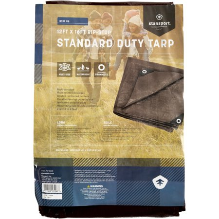 - Rip Stop Tarp, 12' x 16', Brown