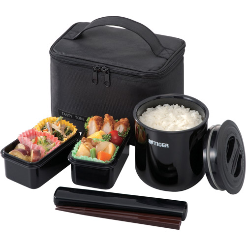 Tiger Classic Lunch Box, 33.8 oz, Black