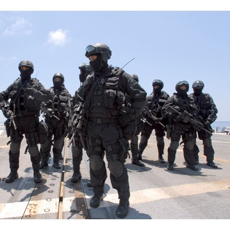 LAMINATED POSTER Members of a Brunei Special Forces unit during a visit, board, search and seizure exercise on board Poster Print 24 x