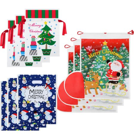 AngelCity Kids New Year Festival Party Christmas Snowman Organza Gift Bag Set - New Year Gift