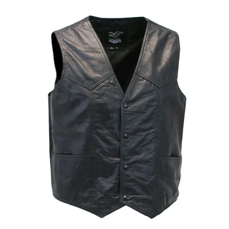 Men's Western Ultra Soft Lambskin Leather Vest #VML01