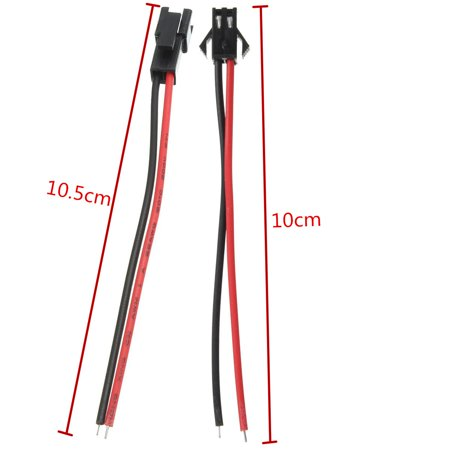 【 From10cm 30 Pairs Waterproof Jst Connector Wire Led Light Strips 2 Pin Connectors Cable  - image 4 of 6