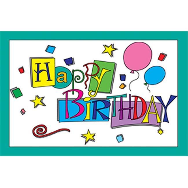 Teacher Created Resources TCR1201 Happy Birthday 30Pk Postcards 4X6