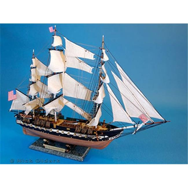 Handcrafted Model Ships B0803 USS Constitution 30 in. Decorative Tall Model Ship