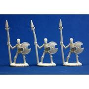 Reaper Miniatures Skeletal Spearmen (3) #77001 Bones Plastic D&D RPG Mini Figure