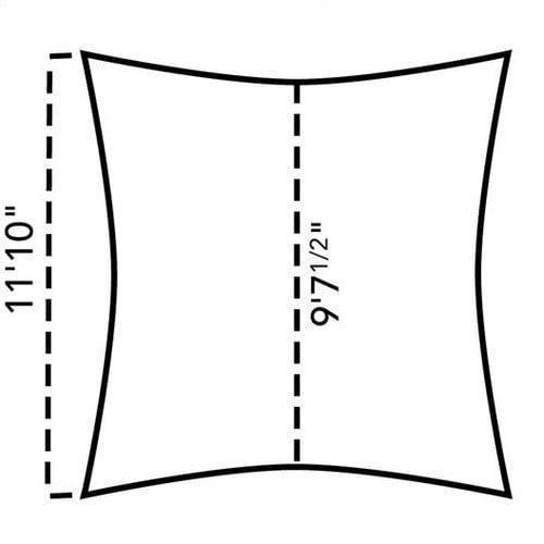 Coolaroo Premium 11'10'' Square Shade Sail Kit