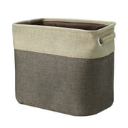 Household Fabric Storage Bin Basket Closet Toy Clothes Towel Laundry Box Container Organizer Coffee Color M Size
