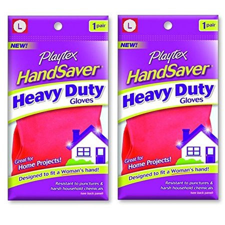 Playtex HandSaver Gloves, Heavy Duty Gloves, Large (2 Pack) + Old Spice Deadlock Spiking Glue, Travel Size, .84 Oz - Old Globes