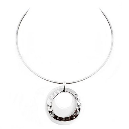da004468d Hammered Gold And Black Ring Double Pendant With Gold Choker Necklace -  image 1 of 1 ...