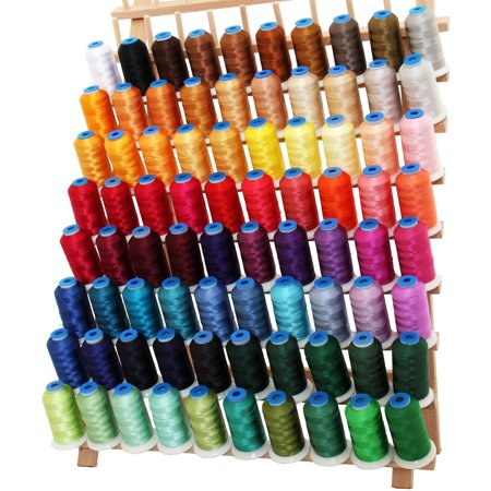 Threadart 80 Cones of Rayon Embroidery Thread Set