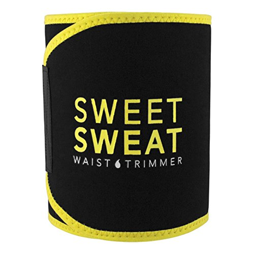 Sweet Sweat Waist Trimmer with Sample of Sweet Sweat Workout Enhancer gel, Medium by Sports Research