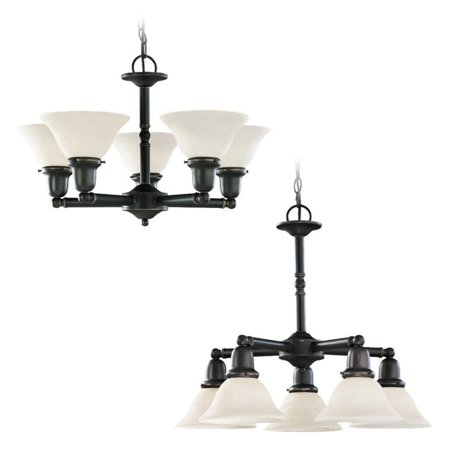 782 Sussex Single Light - Sea Gull Lighting Sussex 31061-782 5-Light Chandelier - 24 diam. in. - Heirloom Bronze