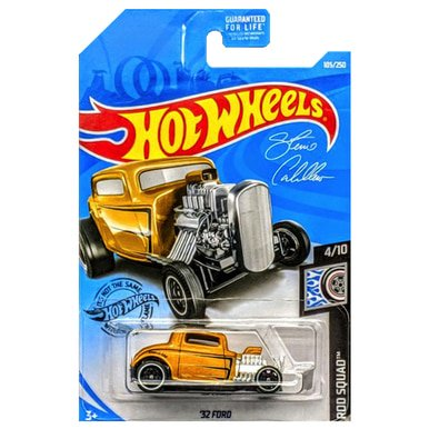'32 Ford Rod Squad Hot Wheels Diecast Vehicle 1:64 Scale 32 Ford Coupe Hot Rod