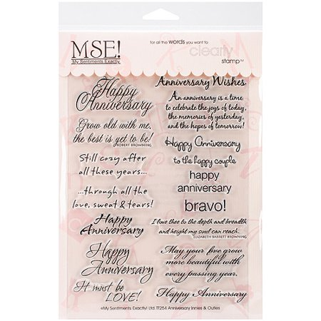 My Sentiments Exactly Clear Stamps 6  X 8  Sheet  Anniversary