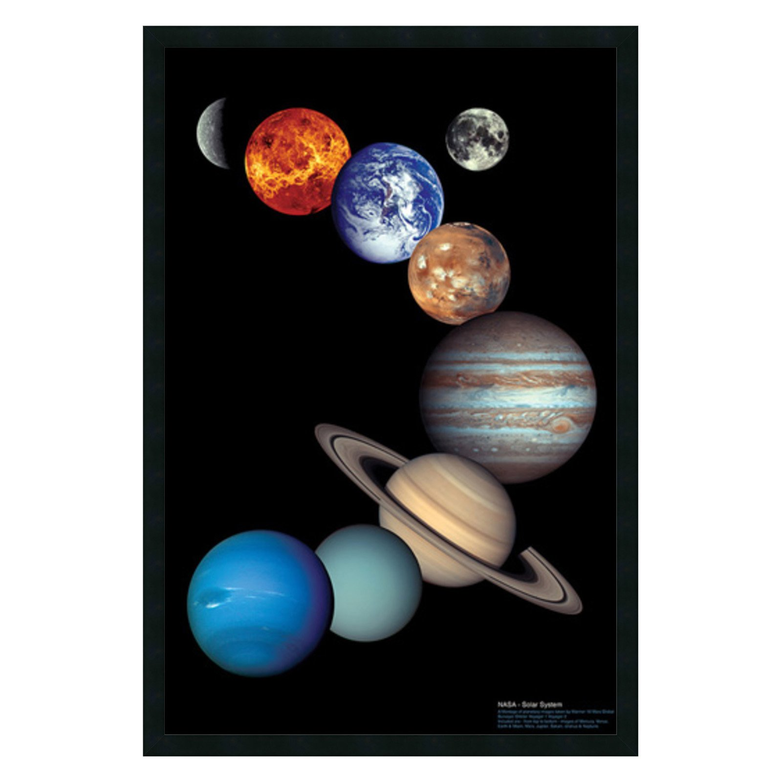 NASA Solar System Framed Wall Art - 25.41W x 37.41H in.
