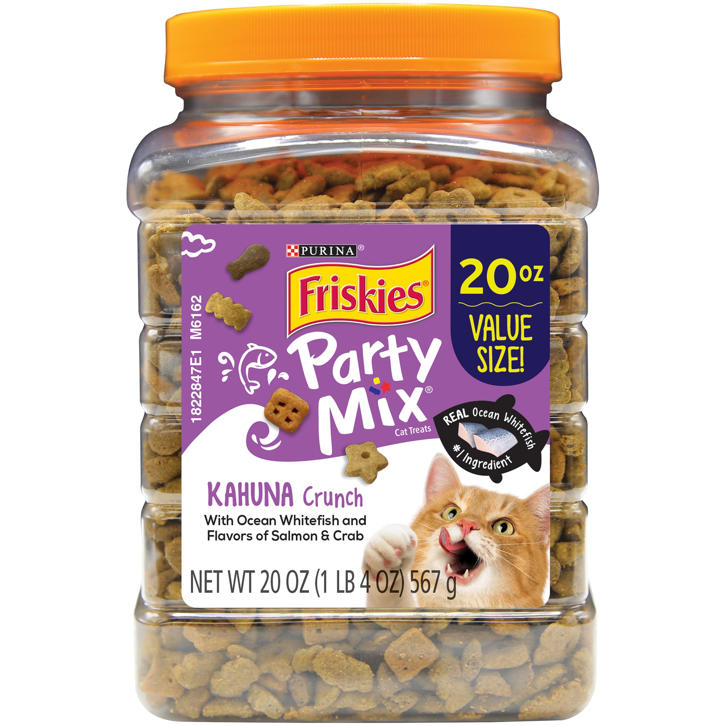 Purina Friskies Party Mix Kahuna Crunch Adult Cat Treats - 20 oz. Canister