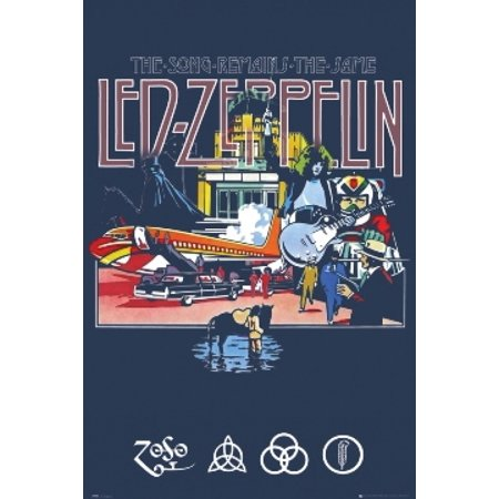 LED ZEPPELIN Song Remains The Same Poster Poster Print](Halloween Songs To Print)