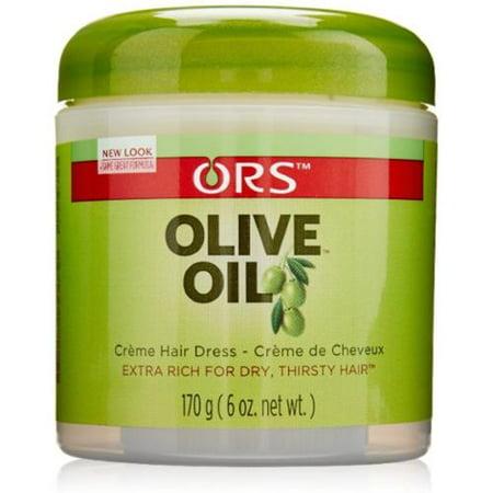 Organic Root Stimulator Huile d'Olive Crème Robe cheveux (6 oz pack de 3)