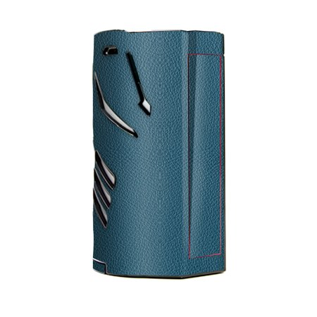 Skin Decal Vinyl Wrap for Smok T-Priv 3 Kit 300w TC Vape skins stickers cover / Blue Teal Leather Pattern look