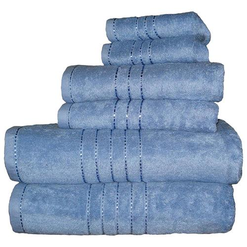 Haven Rayon from Bamboo and Egyptian Cotton 6-piece Towel Set Green