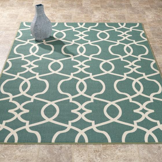 berrnour home rose collection red moroccan trellis design area rug with non skid non slip. Black Bedroom Furniture Sets. Home Design Ideas