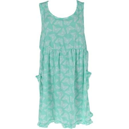 - Women's Plus Size Terry Sleeveless Lounge Dress