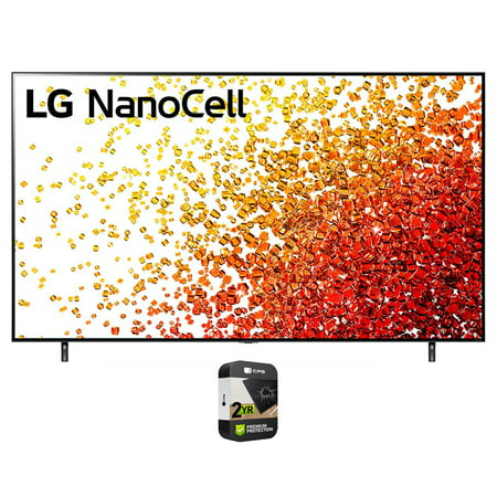 LG 43NANO75UPA 43 Inch 4K Nanocell TV 2021 Model Bundle with Premium 2 Year Extended Protection Plan