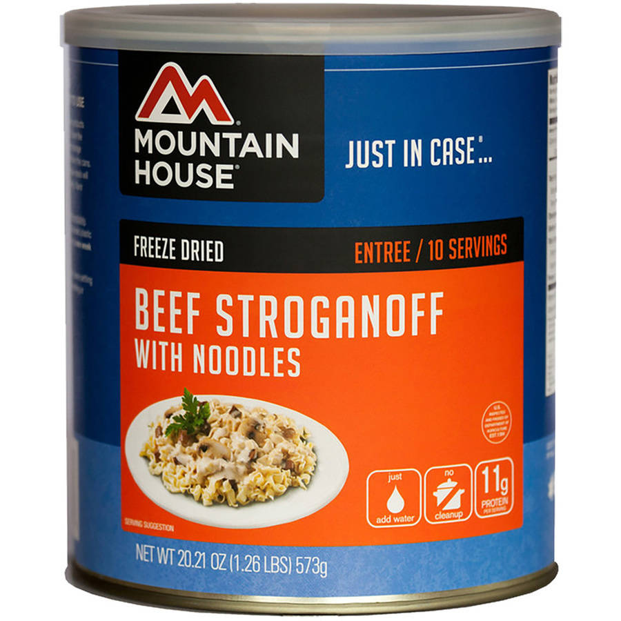 Mountain House Freeze Dried Beef Stroganoff with Noodles by Oregon Freeze Dry