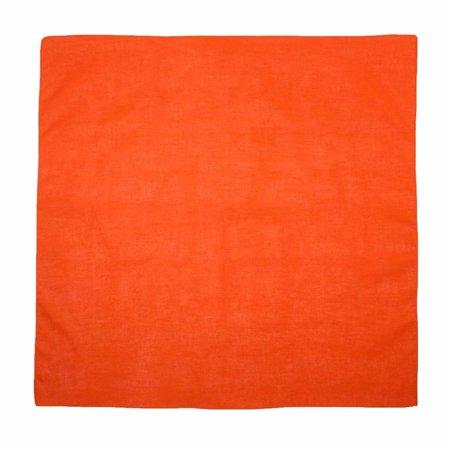 MTL® 100% Cotton Solid Color Bandana, Orange
