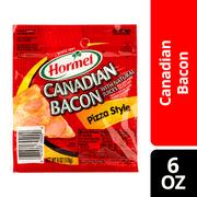Hormel Pizza Style Canadian Bacon, 6 Oz.