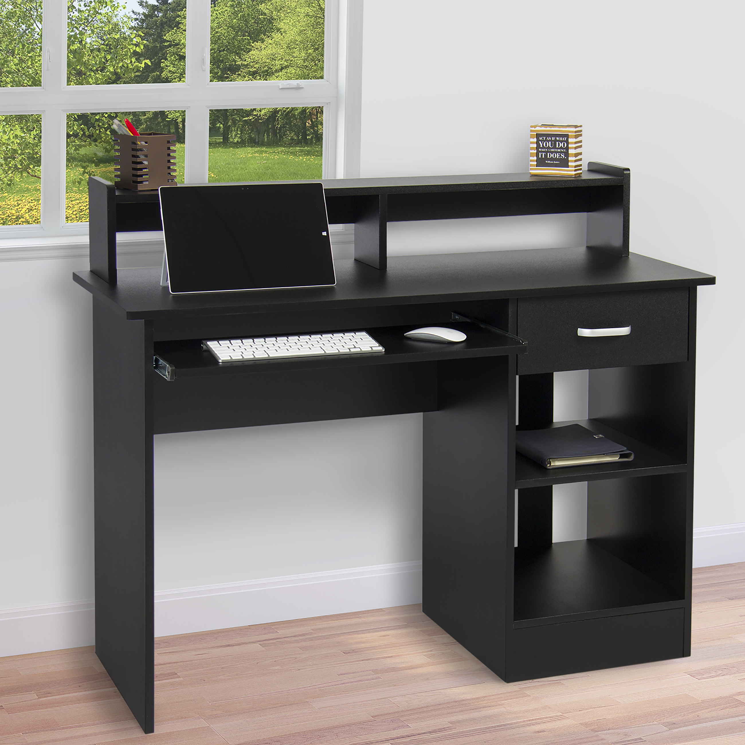Product Image Best Choice Products Computer Desk Home Laptop Table College Home  Office Furniture Work Station   Black