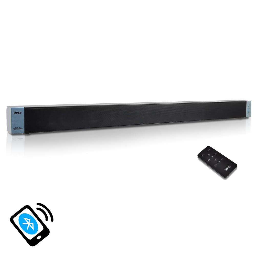 Pyle 2-Channel Audio Level Bluetooth Stereo SoundBar Digital Speaker System by Pyle