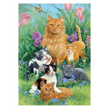 Toland Home Garden Meadow Cats Flag