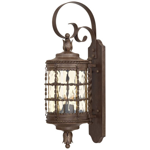 Kingswood Rust Two-Light Outdoor Lantern Wall Sconce by
